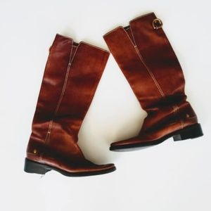 Dolce & Gabbana Brown Leather Boots (37.5, 7)